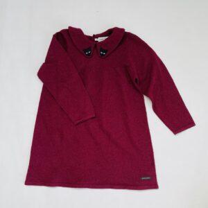 Kleedje tricot bordeaux panter Sproet & Sprout 5-6jr