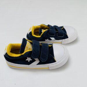 Sneakers velcro donkerblauw/geel Converse maat 23