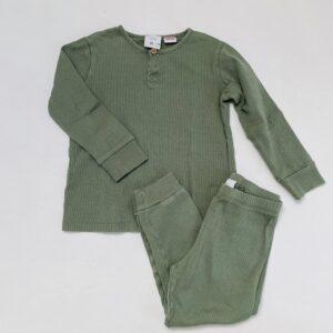 2-delige pyjama geribd kaki Zara 3-4jr / 104