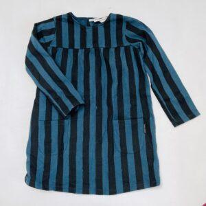 Kleedje gevoerd longsleeve dark stripes Sproet & Sprout 5-6jr