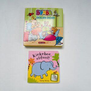2x flapjesboekjes Bumba/olifant