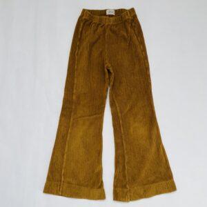 Flared pants ribfluweel mustard Long live the Queen 6jr