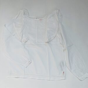 Blouse longsleeve wit frill American Outfitters 10jr