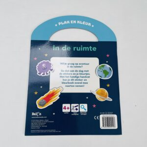 Boekje plak en kleur In de ruimte Ballon